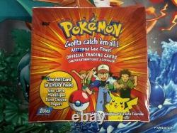 Topps Pokemon Series 1 Booster Scellé Boîte 36 Packs Scellés Rare Blue Label 1999