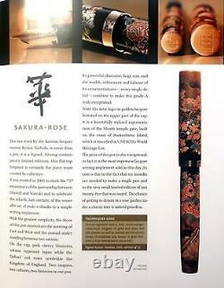 Très Rare 2005 Dunhill Namiki Maki-e Sakura Rose Rose Stylo Nouveau Boxed