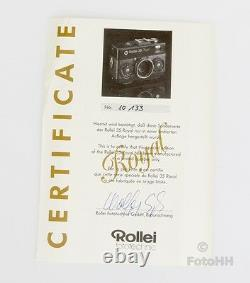 Très Rare Rollei 35 Royal Stirnehimmel Set En Boîte D'affichage En Bois