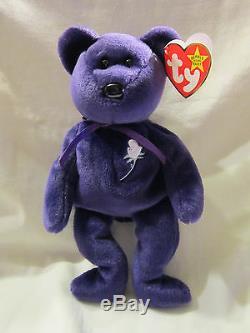 Ty Beanie Babies Originale Princesse Diana Mwmt Dans Une Boîte Rare Misspelled St