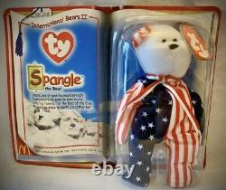 Ty Beanie Baby-rare Spangle The Bear Mcdonalds 1999 New In Box Never Opened