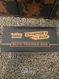 Usine Chemin Champions Pokemon Sealed Elite Entraîneur Boîte Etb Tcg 10 Box Lot