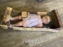 Vtg Baby 2 Ans Toddler Doll Eugene Life Size Walking New In Box Rare Années 1970