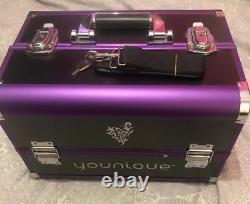 Younique Selfie Coffre Cas Maquillage. Violet. Nouveau! Rare. Un Dernier Disponible